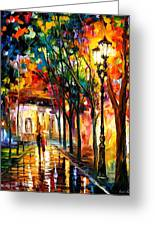 Harmony - Palette Knife Oil Painting On Canvas By Leonid Afremov Greeting Card