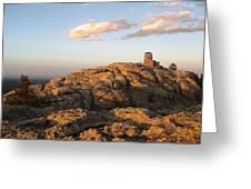 Harney Peak At Dusk Greeting Card