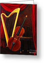 Harp And Cello Greeting Card