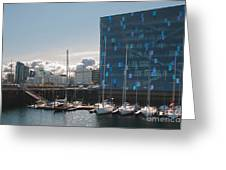 Harpa And The Harbor In Reykjavik Greeting Card