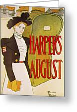 Harpers August 1897 Greeting Card