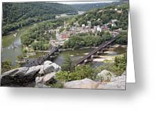 Harpers Ferry Viewed From Maryland Heights Greeting Card