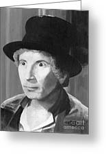 Harpo Marx Greeting Card by Peggy Dreher