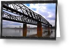 Harrahan Railroad Bridges Greeting Card
