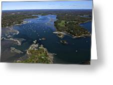 Harraseeket River And South Freeport Greeting Card