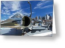 Harrier At Interpid Museum Greeting Card