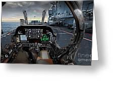 Harrier Cockpit Greeting Card