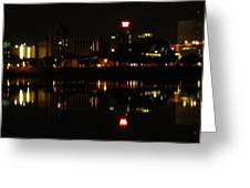 Harrisburg Night Lights Greeting Card