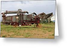 Harrison Threshing Machine Greeting Card