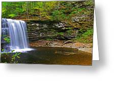 Harrison Wright Falls And Pool Greeting Card