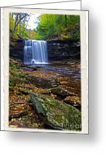 Harrison Wright Falls In Autumn Greeting Card