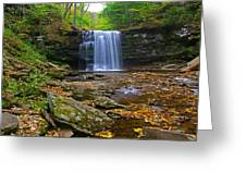 Harrison Wright Falls In Early Fall Greeting Card
