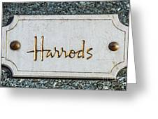 Harrods Greeting Card