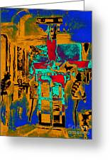 Harry Houdini And The Chinese Water Torture In Abstract Greeting Card by Wingsdomain Art and Photography
