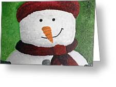 Harry The Snowman Greeting Card