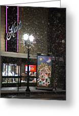 Hart In The Snow - Grants Pass Greeting Card