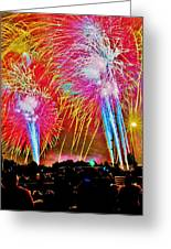 Hart Plaza Fireworks Greeting Card