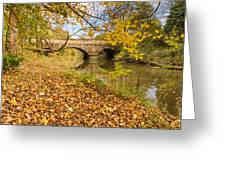 Hartford Bridge In Autumn Greeting Card