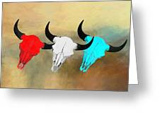 Hart's Camp Buffalo Skulls Greeting Card