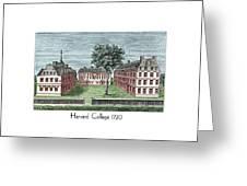 Harvard College - 1720 Greeting Card