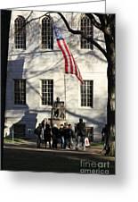 Harvard Statue Greeting Card
