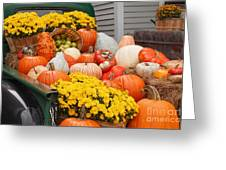 Harvest Display At The Vermont Country Store Greeting Card