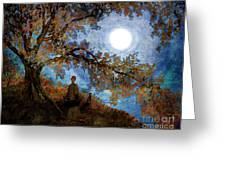 Harvest Moon Meditation Greeting Card