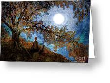 Harvest Moon Meditation Greeting Card