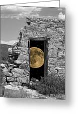 Harvest Moon Through The Magic Door Greeting Card