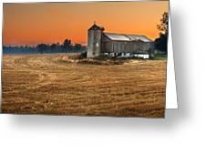 Harvest Morning Greeting Card by Garvin Hunter