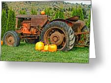 Harvest Tractor Greeting Card