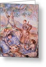Harvesters Breakfast Greeting Card by Pierre-Auguste Renoir