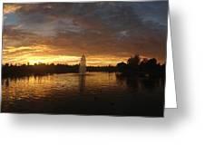Harveston Lake Sunset Greeting Card
