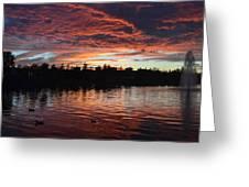 Harveston Sunset Greeting Card