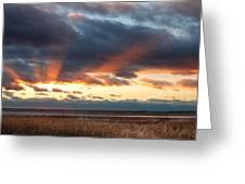 Harvey Beach Sunset Greeting Card