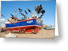 Hastings Fishing Boat Greeting Card