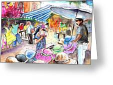 Hat Shopping At Turre Market Greeting Card