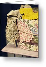 Hatbox Of Lace Greeting Card