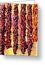 Hatch Red Chili Ristras Greeting Card