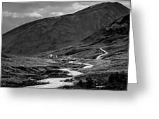 Hatcher's Pass In Black And White Greeting Card