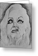 Hatchet Face Greeting Card by Jeremy Moore