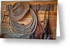 Hats And Chaps Greeting Card