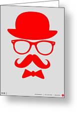 Hats Glasses And Mustache Poster 3 Greeting Card by Naxart Studio