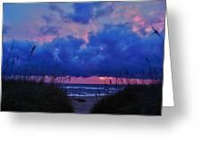 Hatteras Island Sunrise 1 11/01 Greeting Card
