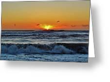 Hatteras Island Sunrise 1 11/03 Greeting Card
