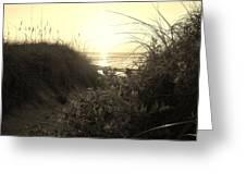 Hatteras Island Sunrise 12 8/28 Greeting Card