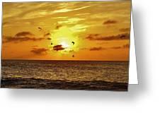 Hatteras Island Sunrise 20 9/3 Greeting Card
