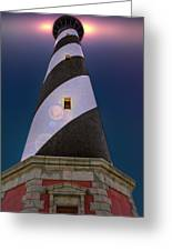 Hatteras Lighthouse At Night Greeting Card