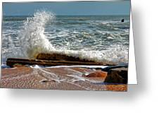 Hatteras Waves Greeting Card