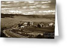 Hatton Ranch Carmel Valley From Highway One California  1940 Greeting Card